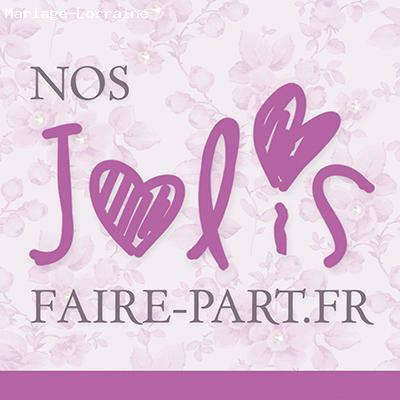 Étonnant Faire-part Mariage - Dommartin-les-Toul (54) - Nos-jolis-faire-part.fr ZG-96